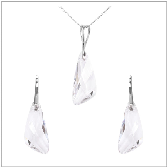 Swarovski Element Wing Set - Crystal - swarovski jewellery south africa kcrystals