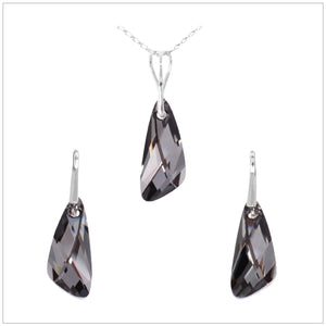 Swarovski Element Wing Set - Silver Night - swarovski jewellery south africa kcrystals