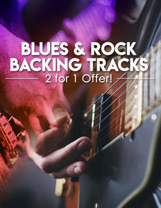Blues & Rock Backing Tracks - 2 for 1 Super Bundle Offer!