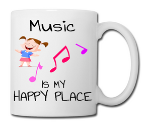 Music Is My happy Place - Unique Music Mug!
