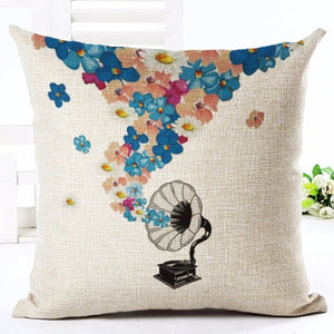 Floral Music Cushion Covers - 7 Designs Available