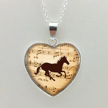Music Horse Pendant and Necklace