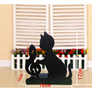 Cat Treble Clef Bookends - 2 Pieces