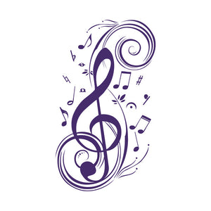 Treble Clef Wall Art - Vinyl Decal - Removable
