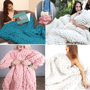 Chunky Knitted Blankets - Free Shipping
