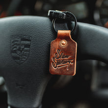 Leather key fob - BROWN