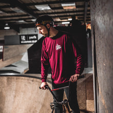 CUSTOMS LONG SLEEVE T-SHIRT - MAROON