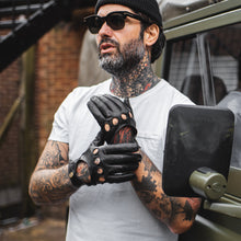Nappa Leather Driving Gloves - BLACK