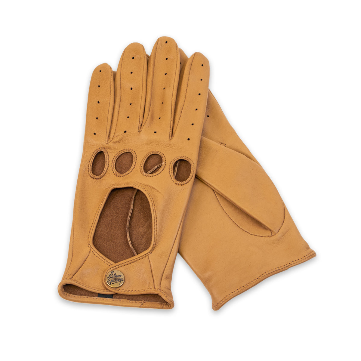 Nappa Leather Driving Gloves - TAN