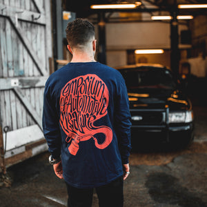 EMPORIUM LONG SLEEVE T-SHIRT - NAVY