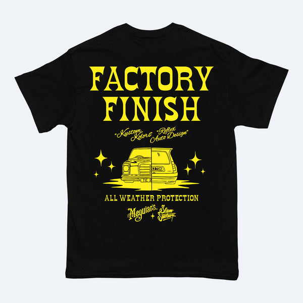 MEGUIAR'S FACTORY FINISH T-SHIRT - BLACK