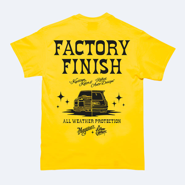 MEGUIAR'S FACTORY FINISH T-SHIRT - YELLOW