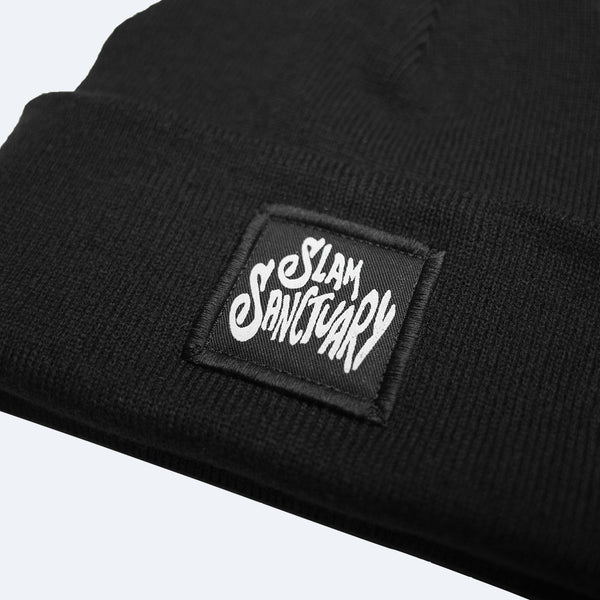 PATCH BEANIE - BLACK