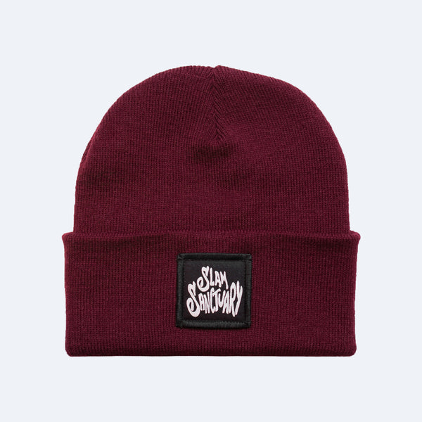 PATCH BEANIE - BURGUNDY