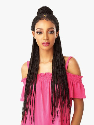 100% SYNTHETIC HAND BRAIDED LACE WIG FULANI CORNROW, 29,5""