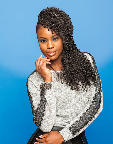 100% SYNTHETIC CROCHET BRAID URBAN SPIRAL, 18""