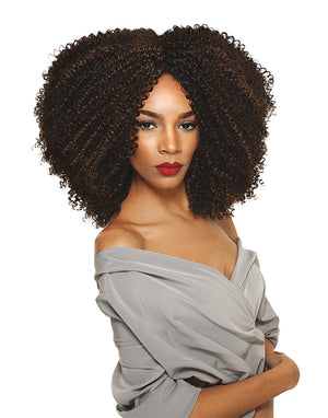 100% HUMAN & PREMIUM BLEND HAIR 4A-KINKY ONE PACK