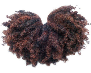 100% SYNTHETIC AFRO TWIST PUFF, 6""