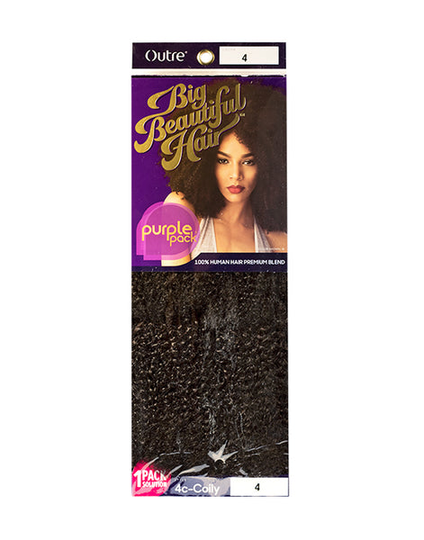 100% HUMAN & PREMIUM BLEND HAIR 4C-COILY ONE PACK