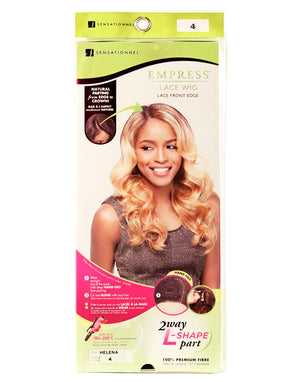 100% SYNTHETIC LACE FRONT EDGE WIG HELENA 2 WAY L-SHAPE PART