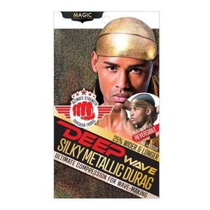 MAGIC DEEP WAVE SILKY METALLIC GOLD DURAG