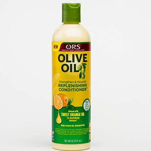 ORS OLIVE OIL STRENGTHEN & NOURISH REPLENISHING CONDITIONER INFUSED WITH SWEET ORANGE, 362 ML