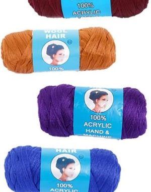 ROYAL FAMILY 100% ACRYLIC HAND & MACHINE KNITTING YARN FOR AFRICAN HAIR BRAIDING, 100 G