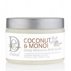 DESIGN ESSENTIALS COCONUT & MONOI DEEP MOISTURE MILK SOUFFLE, 355 ML