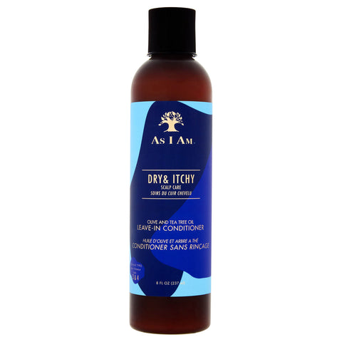 AS I AM - DRY & ITCHY OLIVE & TEA TREE OIL LEAVE-IN CONDITIONER, 237 ML