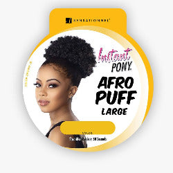 100% SYNTHETIC INSTANT PONY  AFRO PUFF LARGE