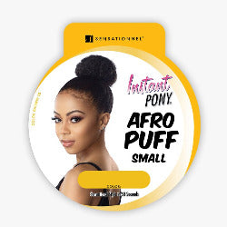 100% SYNTHETIC PONY TAIL AFRO PUFF SMALL