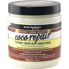 AUNT JACKIES COCONUT REPAIR CREME DEEP CONDITIONER, 426 G