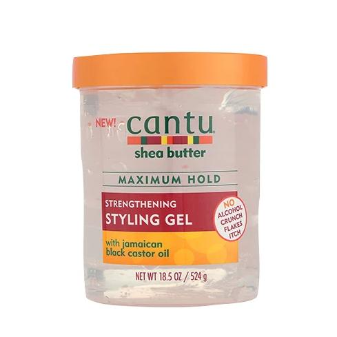 CANTU SHEA BUTTER STRENGTHENING STYLING GEL WITH JAMAICAN BLACK CASTOR OIL, 524 G