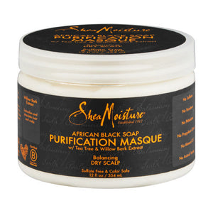 SHEA MOISTURE AFRICAN BLACK SOAP PURIFICATION MASQUE, 340 G