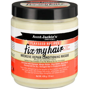 AUNT JACKIES FIX MY HAIR INTENSIVE REPAIR CONDITIONING MASQUE, 426 G