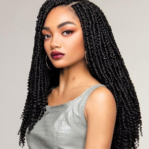 100% SYNTHETIC CROCHET BRAID PRE-LOOPED SPRING TWIST, 16""
