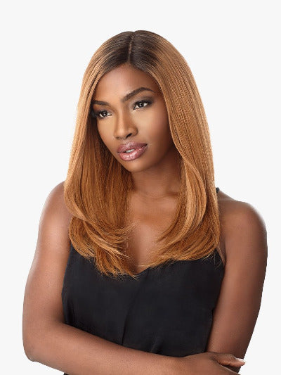 100% HUMAN HAIR MULTI PARTING LACE WIG JOELLE, 19""