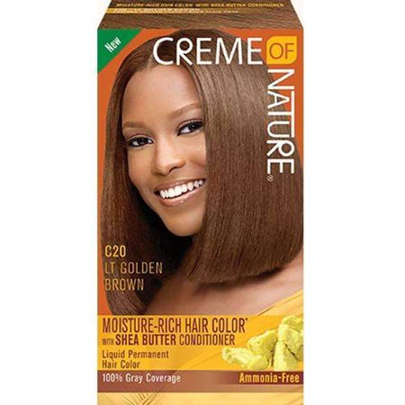 CREME OF NATURE - HAIR COLOR C 20 LIGHT GOLDEN BROWN