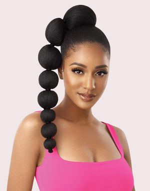 100% Synthetic Ponytail Afro Puff  Bubble