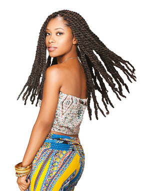 100% SYNTHETIC TWIST BRAID AFRICAN COLLECTION REGGAE BRAID, 34""