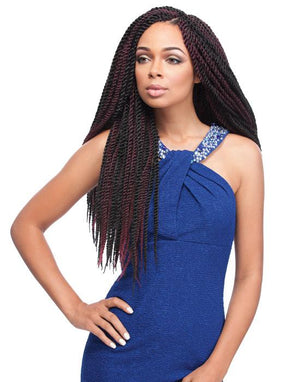 100% SYNTHETIC BRAID HALF-FOLDED AFRICAN COLLECTION SENEGAL TWIST, 40""
