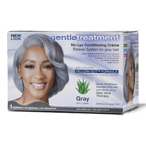 <transcy>GENTLE TREATMENT - RELAXER FOR GRAY HAIR NO-LYE KIT</transcy>