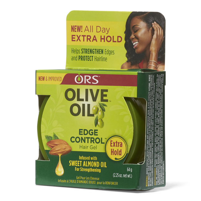 ORS - OLIVE OIL EDGE CONTROL SWEET ALMOND, 64 G