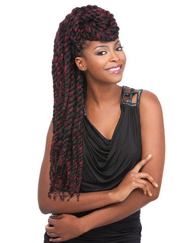 100% SYNTHETIC TWIST BRAID AFRICAN COLLECTION SUPER REGGAE, 36″