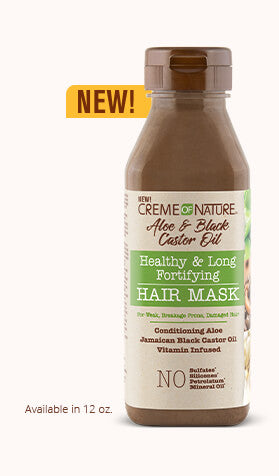 CREME OF NATURE ALOE & BLACK CASTOR OIL HEALTHY & LONG FORTIFYING HAIR MASK, 355 ML