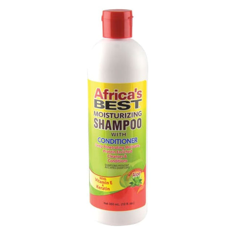 AFRICAS BEST - MOISTURIZING SHAMPOO WITH CONDITIONER, 355 ML - Visons Hair & Cosmetics Butik
