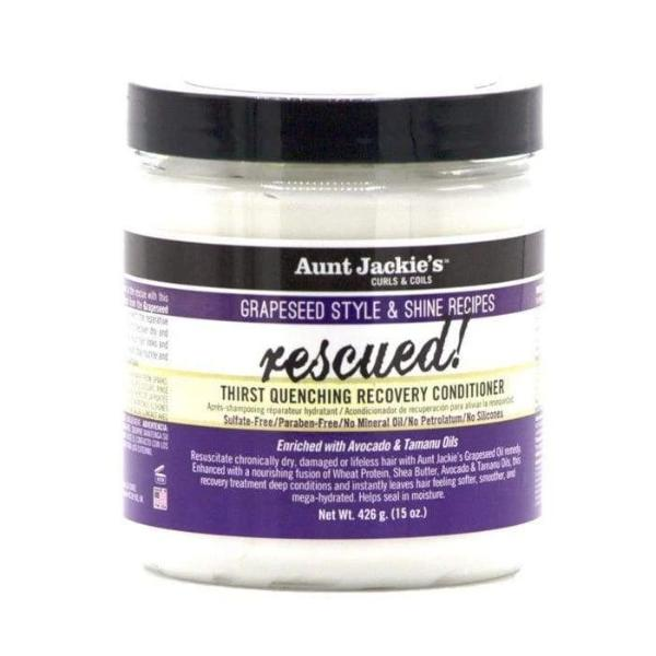 AUNT JACKIES GRAPESEED RESCUED! THIRST QUENCING RECOVERY CONDITIONER, 426 G