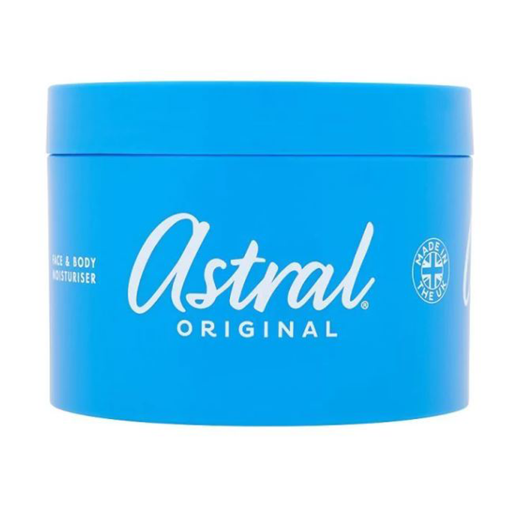 ASTRAL ALL OVER MOISTURISER, 200 ML OR 500 ML