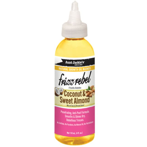AUNT JACKIE´S - NATURAL GROWTH OIL BLENDS FRIZZ REBEL - COCONUT & SWEET ALMOND, 118 ML - Visons Hair & Cosmetics Butik