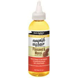 AUNT JACKIE´S - NATURAL GROWTH OIL BLENDS NOURISH MY HAIR FLAXSEED & MONOI, 118 ML - Visons Hair & Cosmetics Butik
